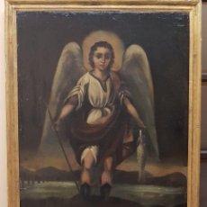Arte: OLEO SOBRE TELA ANONIMO SAN TOBIAS SXVIII. Lote 219305281