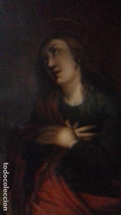 Arte: CALVARIO. SIGLO XVII. ESCUELA ESPAÑOLA. OLEO SOBRE LIENZO 171X105. - Foto 7 - 94576335