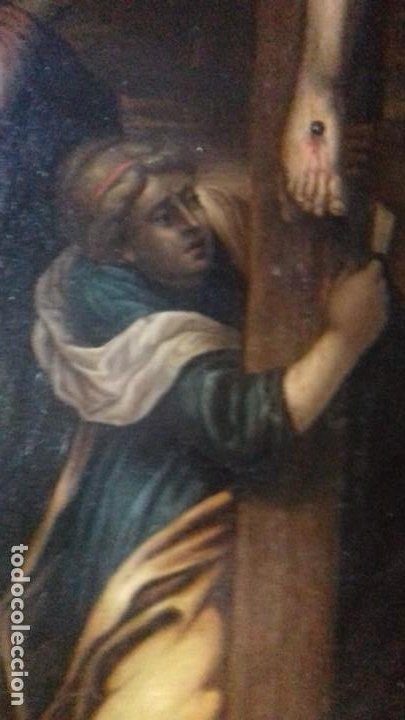 Arte: CALVARIO. SIGLO XVII. ESCUELA ESPAÑOLA. OLEO SOBRE LIENZO 171X105. - Foto 11 - 94576335