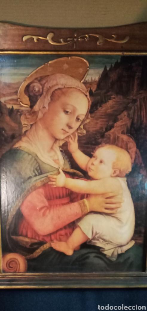 ANTIGUO RETABLO MADERA***VIRGEN MARÍA CON NIÑO.*** ES UNA PRECIOSIDAD*** (Arte - Arte Religioso - Retablos)