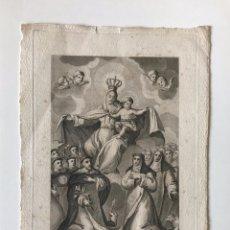 Arte: RELIGIOSO. GRABADO DE BOIX - VIRGEN DEL ROSARIO. Lote 219479607