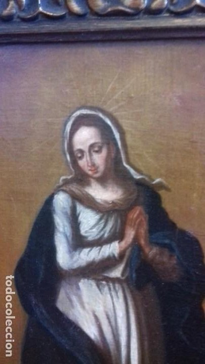 Arte: INMACULADA SIGLO XVII. LIENZO 36X52. ESCUELA SEVILLANA. RECIEN ENMARCADO. - Foto 5 - 219525121