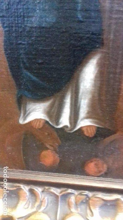 Arte: INMACULADA SIGLO XVII. LIENZO 36X52. ESCUELA SEVILLANA. RECIEN ENMARCADO. - Foto 9 - 219525121