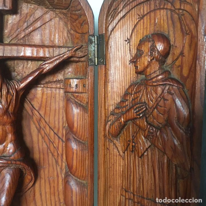Arte: Retablo religioso Siglo XIX tallado a mano - Foto 6 - 219528110