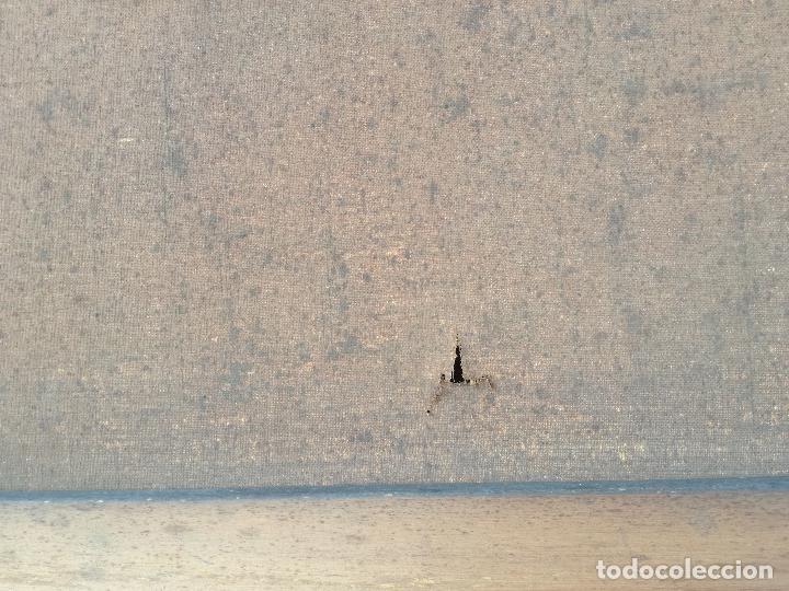 Arte: GRAN PINTURA OLEO SOBRE LIENZO- VIRGEN DEL CARMEN - ESCUELA ESPAÑOLA AÑO 1916 - MARCO: 146X106CM - Foto 30 - 219538308