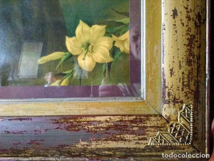 Arte: Marco antiguo con Lámina de San Antonio - Foto 3 - 219544385