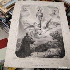 Arte: MARAVILLOSO GRABADO DEL SIGLO XIX DE NUESTRA SEÑORA DEL PILAR . 44 X 54 CM . TODO UNA JOYA. Lote 219560572