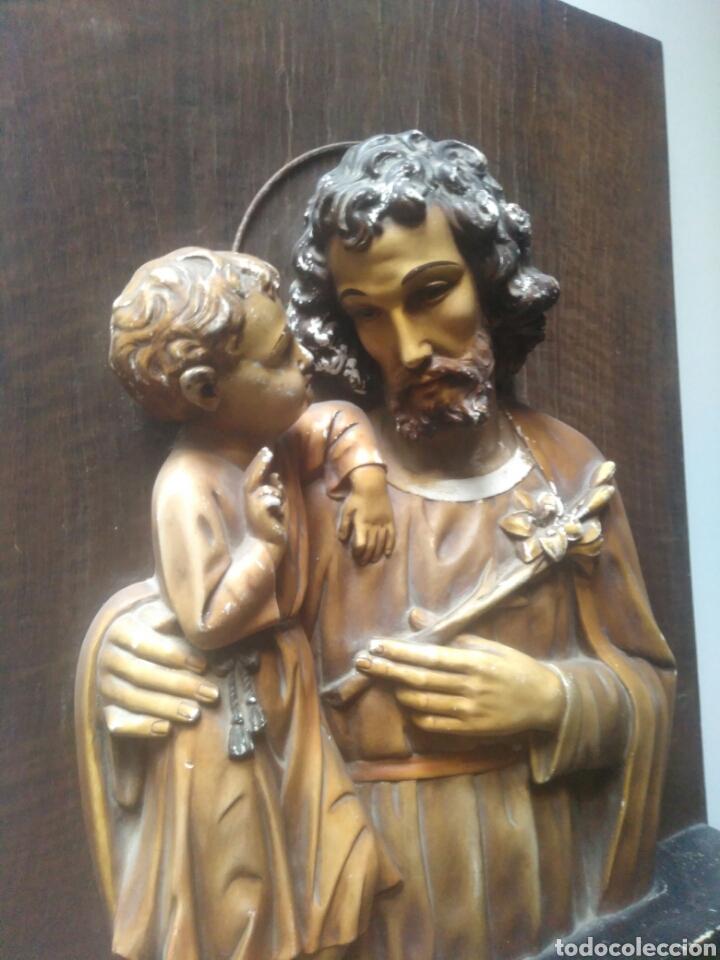 Arte: Precioso Retablo de Jesus en madera y yeso. - Foto 2 - 219694117