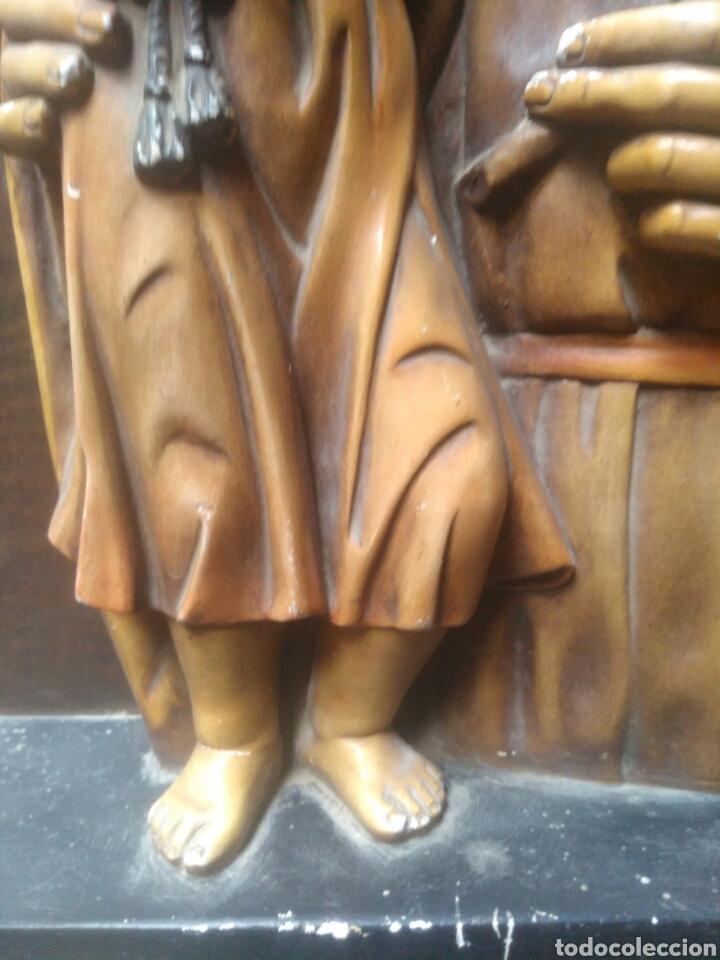 Arte: Precioso Retablo de Jesus en madera y yeso. - Foto 5 - 219694117