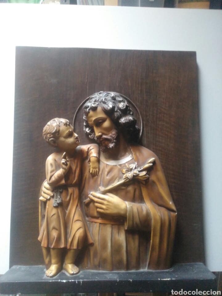 Arte: Precioso Retablo de Jesus en madera y yeso. - Foto 10 - 219694117