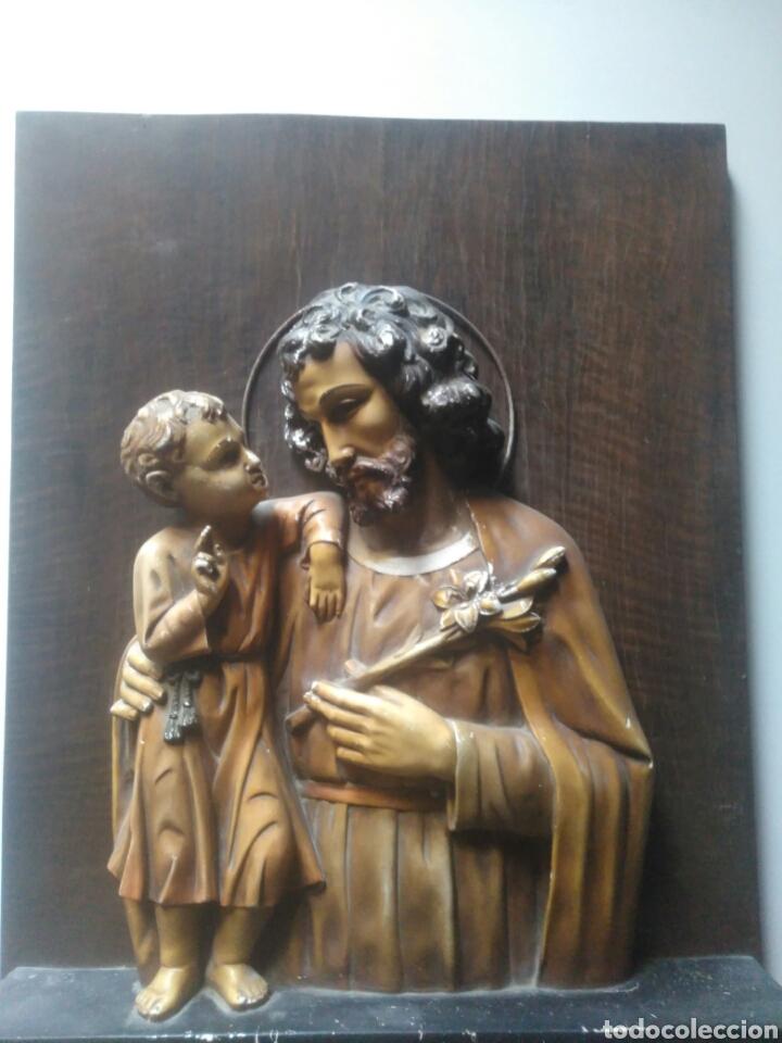 PRECIOSO RETABLO DE JESUS EN MADERA Y YESO. (Arte - Arte Religioso - Retablos)