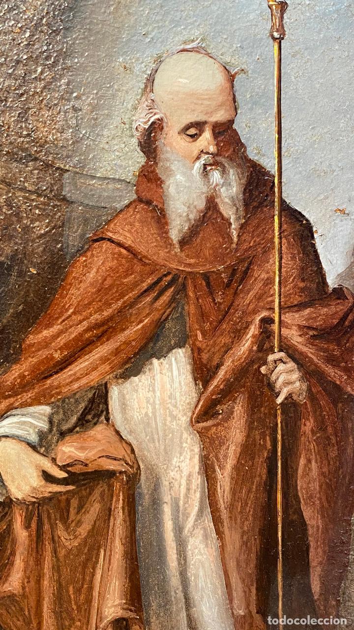 Arte: Antiguo oleo religioso - ver fotos - Foto 3 - 219761451