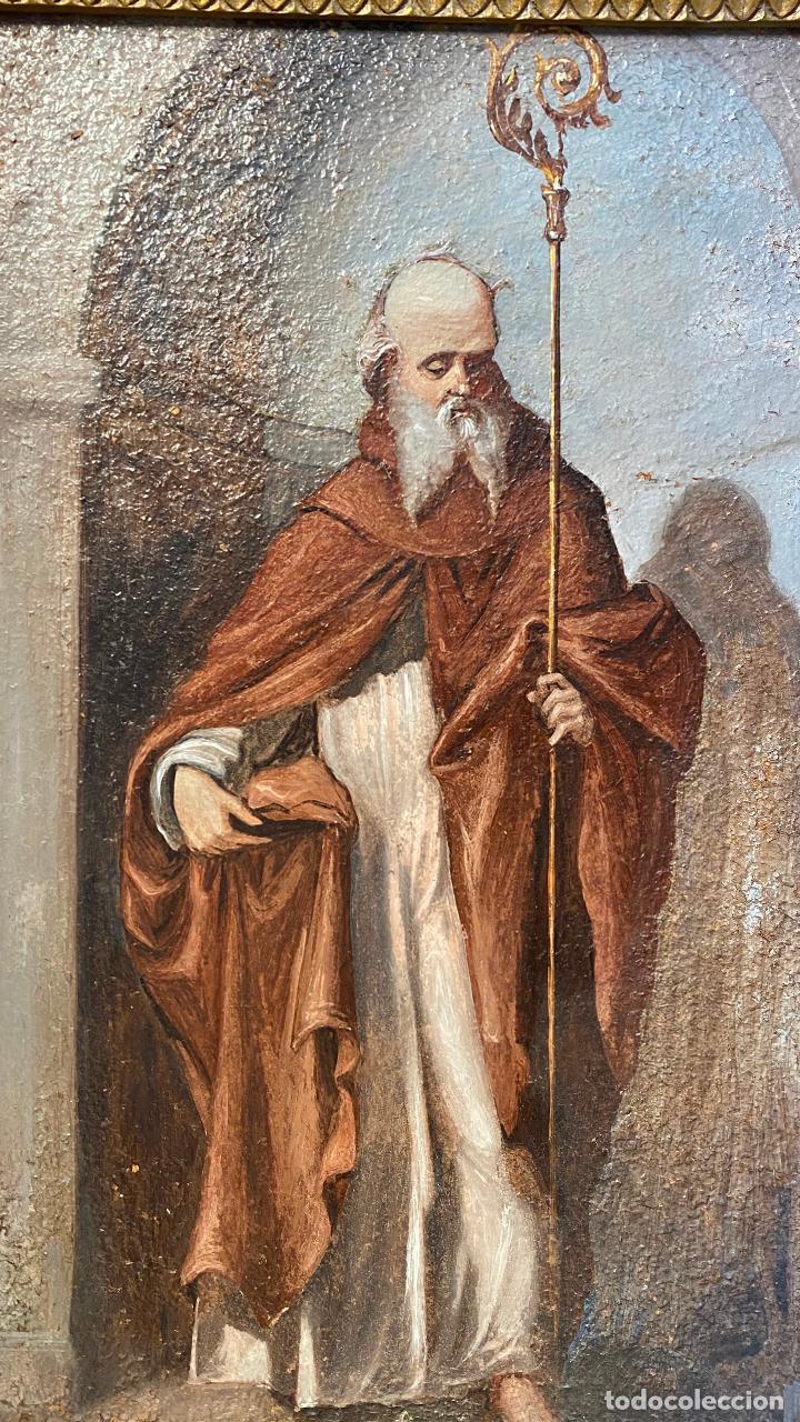 Arte: Antiguo oleo religioso - ver fotos - Foto 4 - 219761451