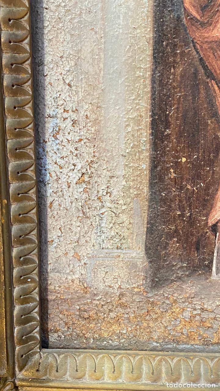 Arte: Antiguo oleo religioso - ver fotos - Foto 9 - 219761451