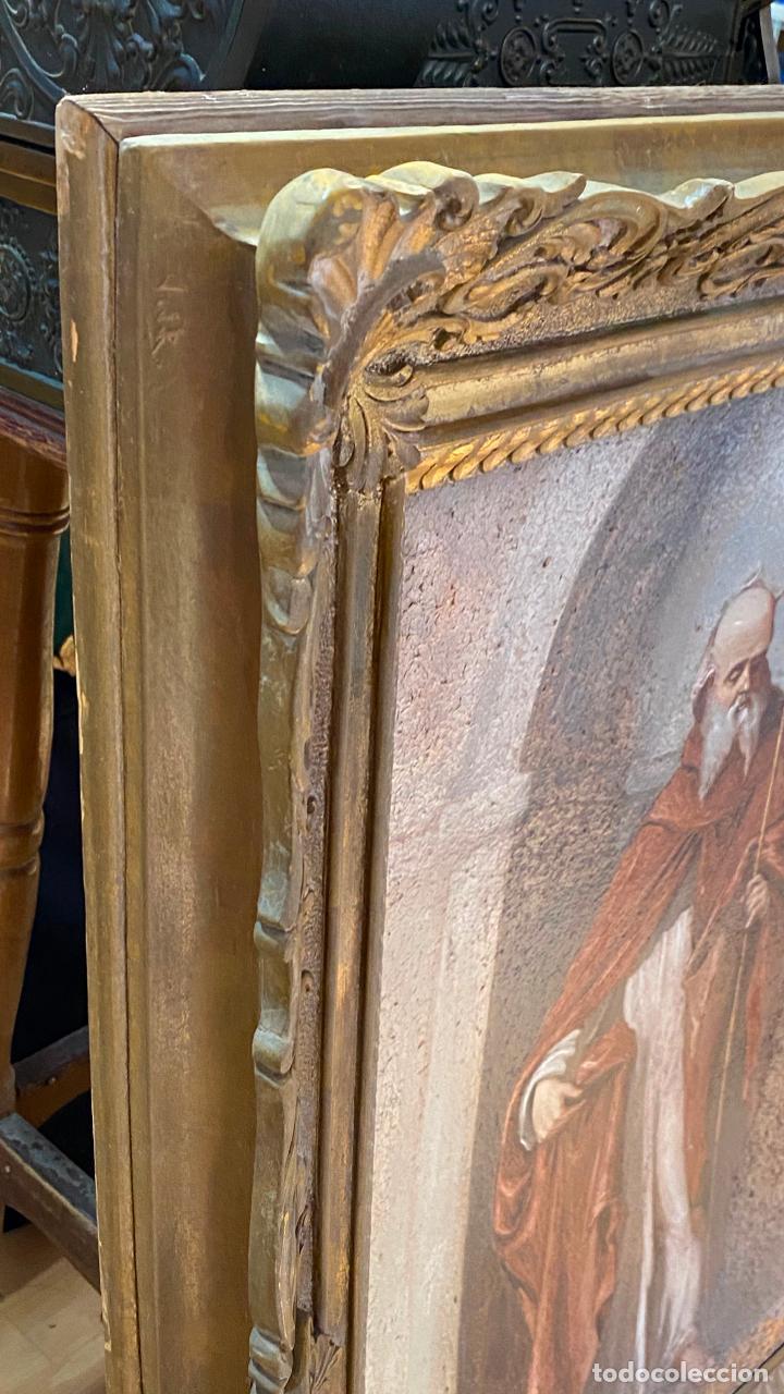 Arte: Antiguo oleo religioso - ver fotos - Foto 10 - 219761451