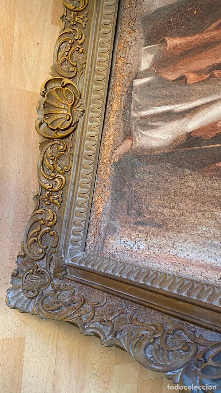 Arte: Antiguo oleo religioso - ver fotos - Foto 11 - 219761451