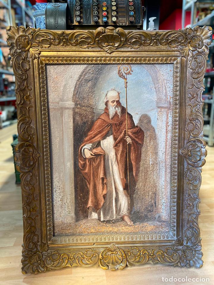 ANTIGUO OLEO RELIGIOSO - VER FOTOS (Arte - Arte Religioso - Pintura Religiosa - Oleo)