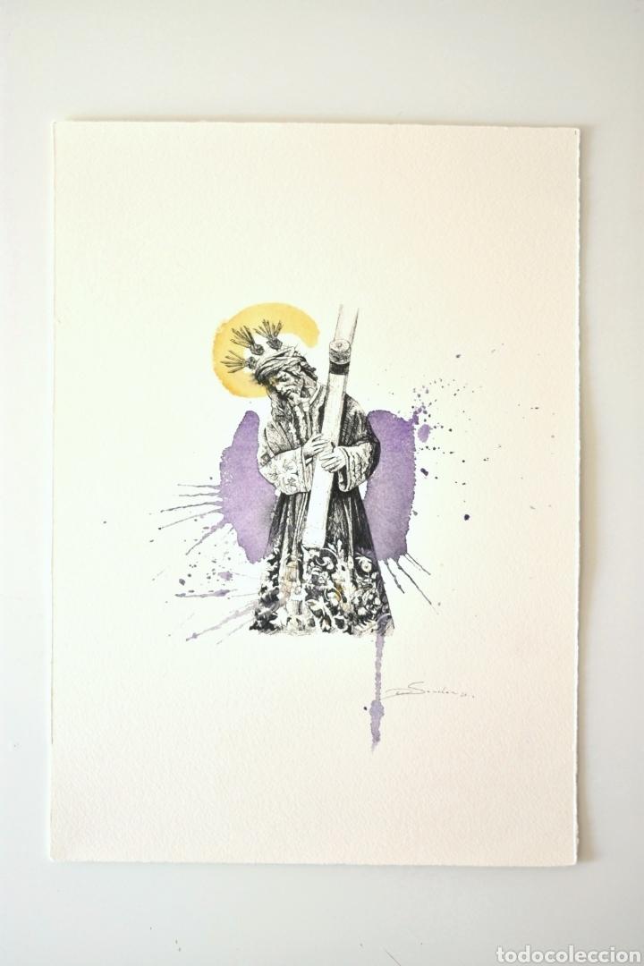 LÁMINA GRAN PODER SEVILLA (Arte - Arte Religioso - Pintura Religiosa - Acuarela)