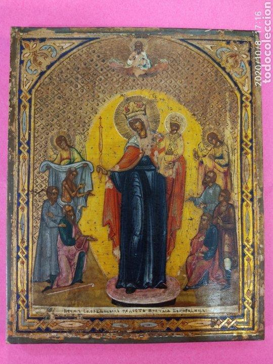 ICONO RUSO SOBRE MADERA SIGLO XIX. (Arte - Arte Religioso - Iconos)