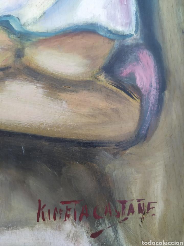 Arte: La virgen María con el niño Jesús en brazos, óleo firmado - Foto 4 - 220396837
