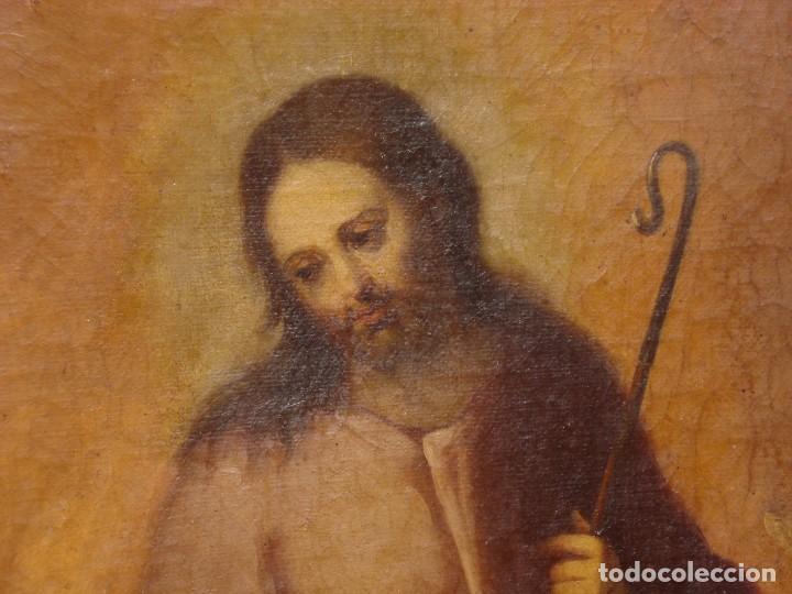 Arte: EL BUEN PASTOR O DIVINO PASTOR MAGNÍFICO LIENZO DEL SXIX GRANDES MEDIDAS - Foto 14 - 220462477