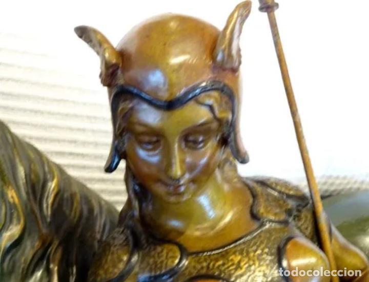 Arte: 55 cmts. Escultura terracota.Art Nouveau. Diosa Minerva. - Foto 5 - 220471896