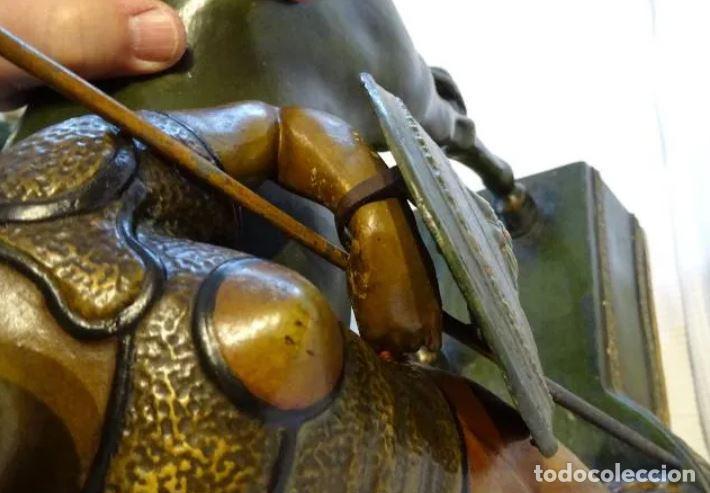 Arte: 55 cmts. Escultura terracota.Art Nouveau. Diosa Minerva. - Foto 8 - 220471896