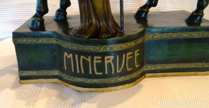 Arte: 55 cmts. Escultura terracota.Art Nouveau. Diosa Minerva. - Foto 10 - 220471896