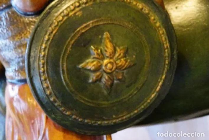 Arte: 55 cmts. Escultura terracota.Art Nouveau. Diosa Minerva. - Foto 13 - 220471896