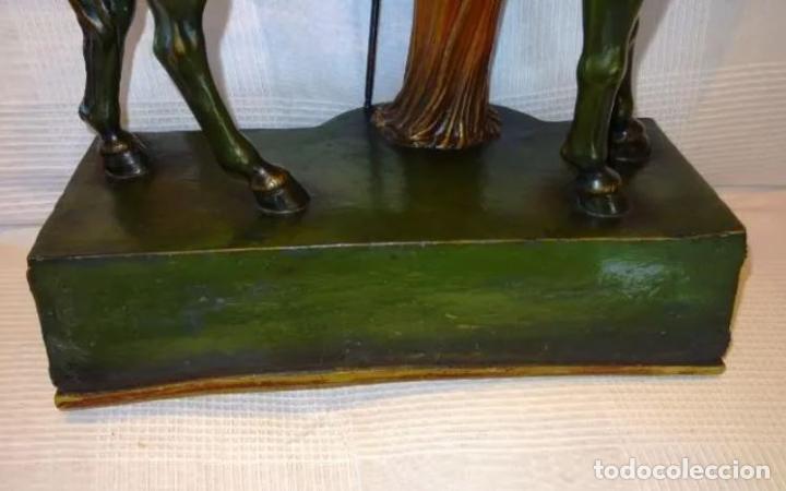 Arte: 55 cmts. Escultura terracota.Art Nouveau. Diosa Minerva. - Foto 18 - 220471896