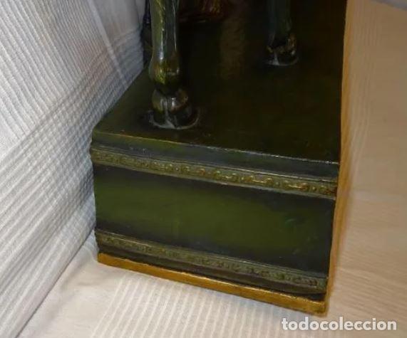 Arte: 55 cmts. Escultura terracota.Art Nouveau. Diosa Minerva. - Foto 19 - 220471896