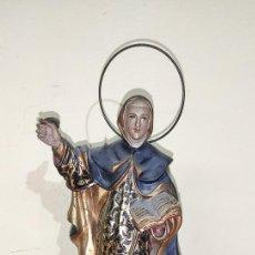 Arte: SANTA TERESA DE JESÚS , POLICROMADA. Lote 220499745