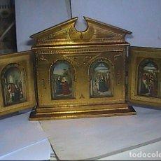 Arte: ICONO TRÍPTICO. PINTURA FLAMENCA S.XV. LA ANUNCIACIÓN, VISITACIÓN Y ADORACIÓN. DIRK BOUTS.. Lote 220644463