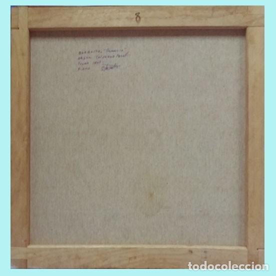 Arte: PERELLO VECIANA,SALVADOR (BARNA 1927)-BARBASTRO Y REMANSO-OLEO S/LIENZO bastidor 65 X 55 cm.FIRMADO. - Foto 3 - 133336450