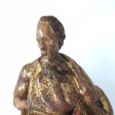 Arte: ANTIGUA TALLA RELIGIOSA - SAN JUDAS - ESCULTURA DEL SIGLO XVI EN MADERA POLICROMADA. Lote 221262235