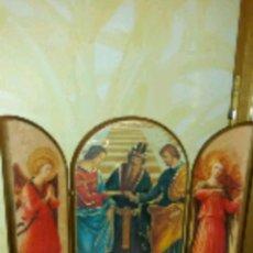 Arte: TRÍPTICO RELIGIOSO MADERA ESTILO RENACENTISTA. Lote 220957413
