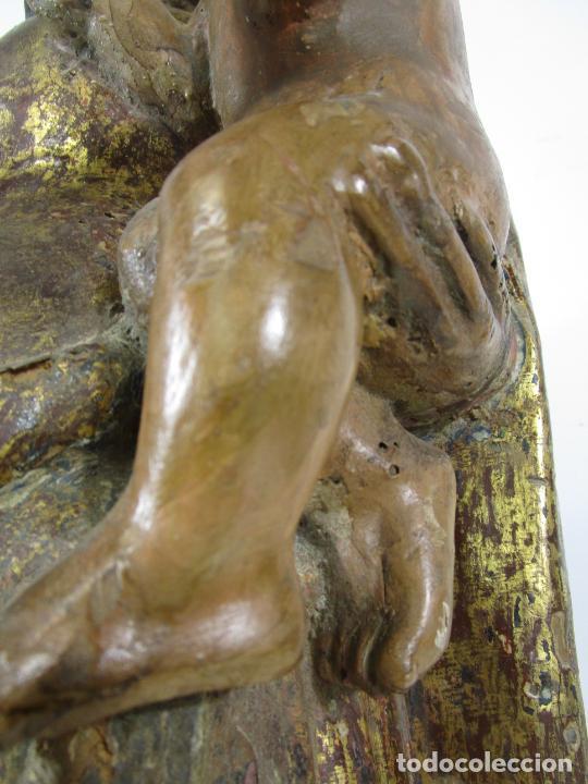 Arte: Antigua Virgen del Pilar - Talla de Madera Policromada - con Paloma - 57 cm Altura - S. XVII-XVIII - Foto 6 - 221333597