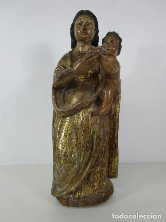 Arte: Antigua Virgen del Pilar - Talla de Madera Policromada - con Paloma - 57 cm Altura - S. XVII-XVIII - Foto 34 - 221333597