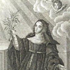 Arte: SOR JUANA GUILLÉN. RELIGIOSA AGUSTINA (ORIHUELA - ALICANTE) GRABADOR TOMÁS ROCAFORT. VALENCIA, 1852. Lote 221457211