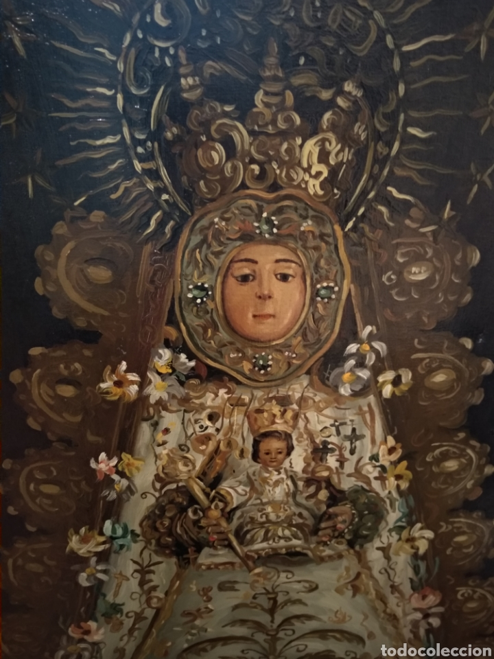 Arte: Fabuloso óleo Virgen del Rocio - Foto 2 - 221508142