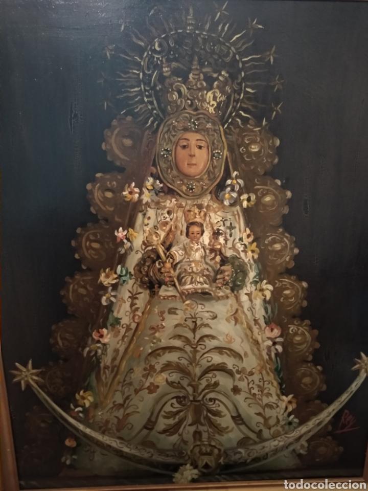 FABULOSO ÓLEO VIRGEN DEL ROCIO (Arte - Arte Religioso - Pintura Religiosa - Oleo)