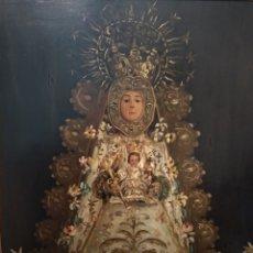 Arte: FABULOSO ÓLEO VIRGEN DEL ROCIO. Lote 221508142