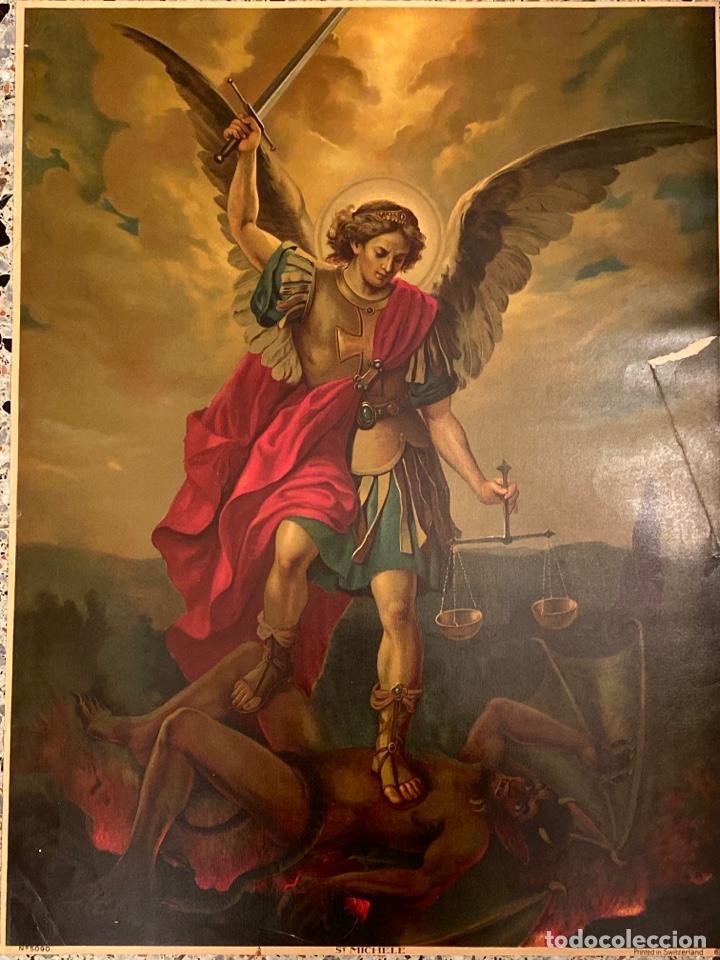 LITOGRAFÍA KFZ PRINTED IN SWITZERLAND SAN MIGUEL (Arte - Arte Religioso - Litografías)