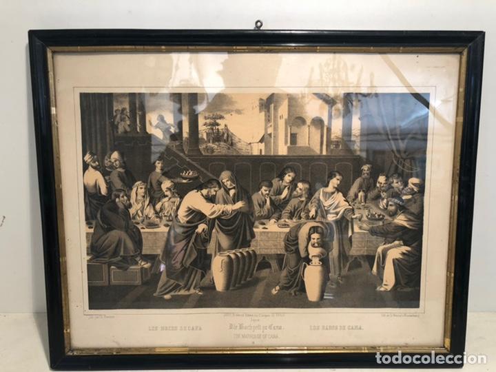 Arte: GRABADO RELIGIOSO DE LOS BADOS DE CANA ANTIGUO. SIGLOXIX - Foto 2 - 221541512