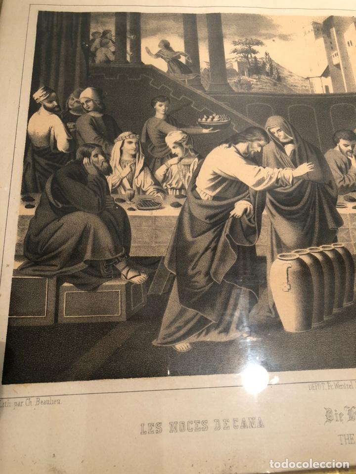 Arte: GRABADO RELIGIOSO DE LOS BADOS DE CANA ANTIGUO. SIGLOXIX - Foto 4 - 221541512