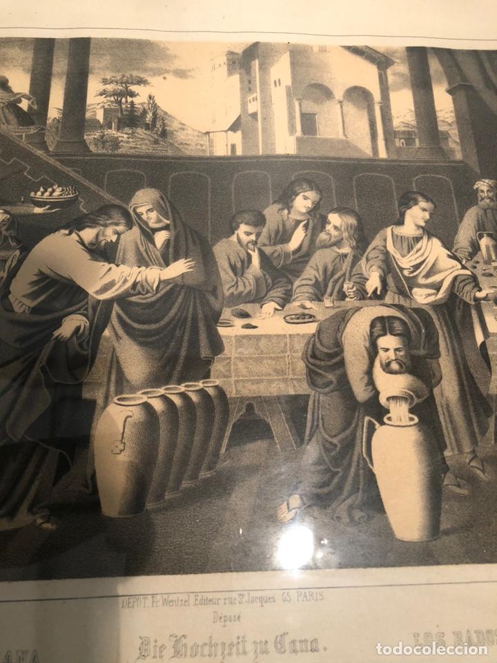 Arte: GRABADO RELIGIOSO DE LOS BADOS DE CANA ANTIGUO. SIGLOXIX - Foto 5 - 221541512