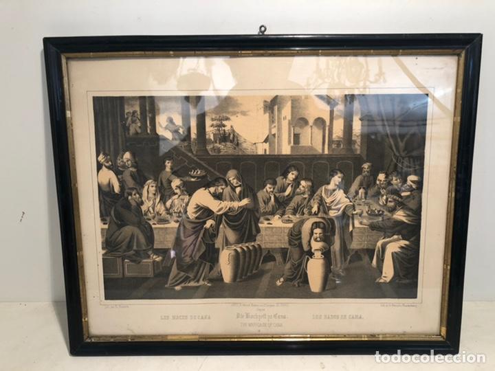 GRABADO RELIGIOSO DE LOS BADOS DE CANA ANTIGUO. SIGLOXIX (Arte - Arte Religioso - Grabados)