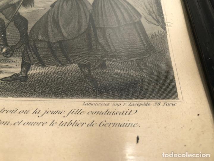 Arte: GRABADO RELIGIOSO DE EL MILAGRO DE LAS FLORES ANTIGUO. 1867 - Foto 5 - 221541867