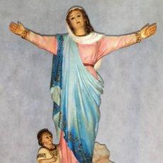 Arte: ANTIGUA VIRGEN DE LA ASUNCIÓN DE OLOT (SELLADA) - 47 CM. - OJOS DE VIDRIO - ENVÍO GRATIS PENÍNSULA. Lote 221704105