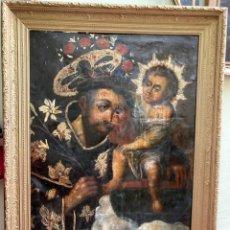 Arte: SAN ANTONIO CON EL NIÑO JESUS. FF. S. XVIII. Lote 221769592